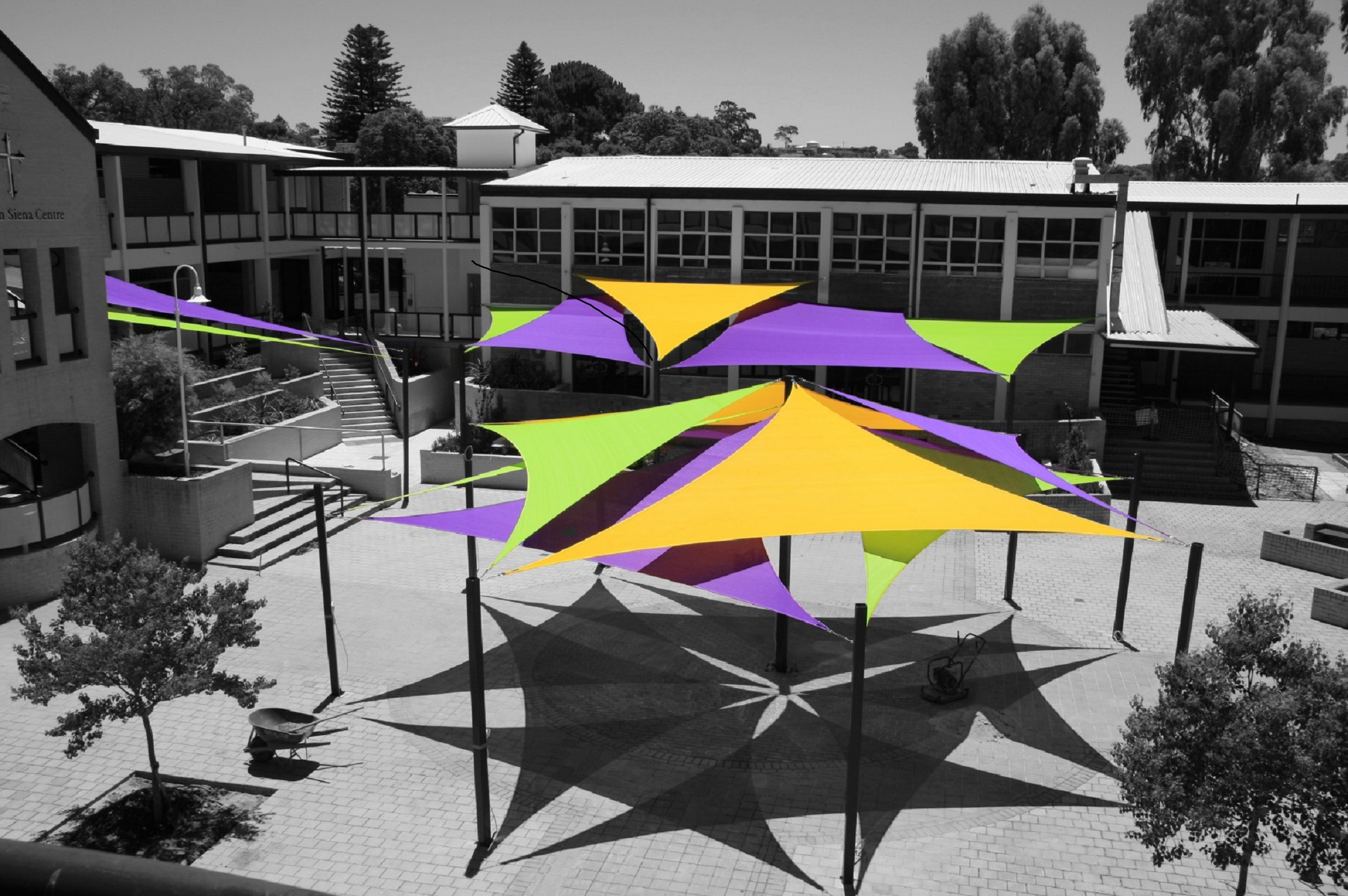 commercial school shade sails