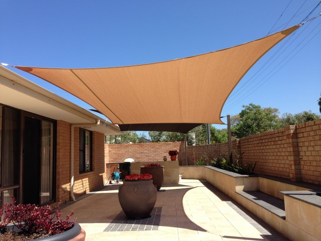 Court yard shade sail