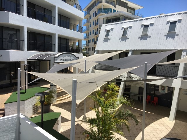 multiple shade sails in Perth CBD