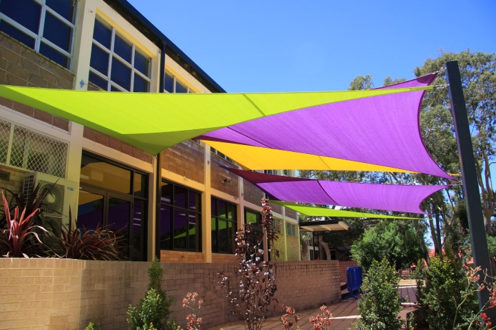 Shade sails for a local school playground area