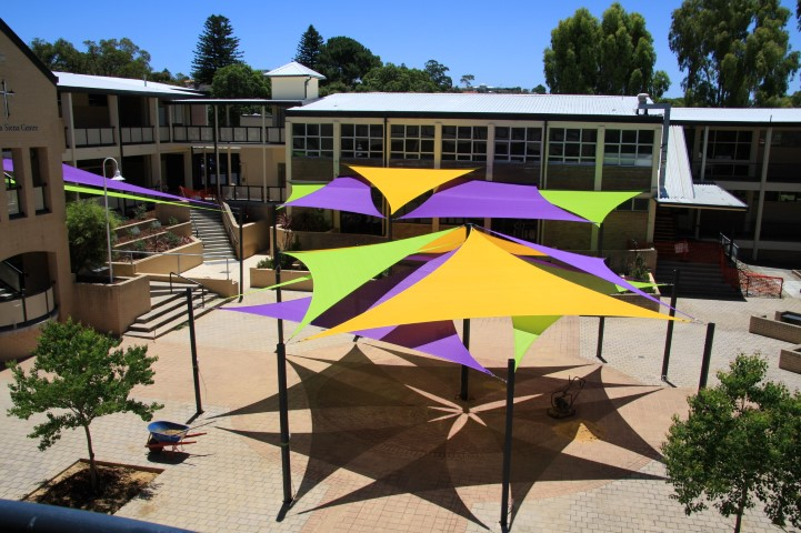 School shade sail design in Doubleview