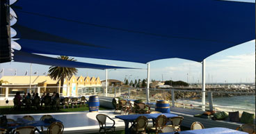 commercial cafe shade sails